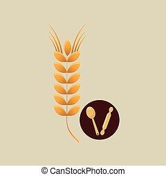 bakery wheat icon
