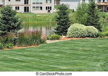 bakgård, landskapsarkitektur