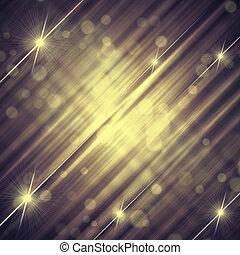 bakgrund, årgång, abstrakt, fodrar, grå, gul, stjärnor, ...