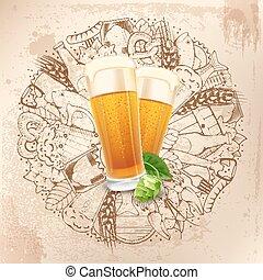 bakgrund, öl