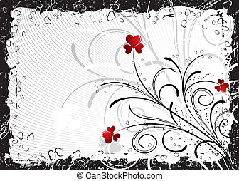 bakgrund, abstrakt, vektor, valentinkort