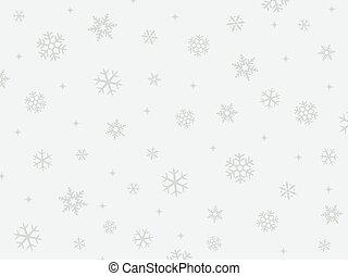 bakgrund, av, snö krister