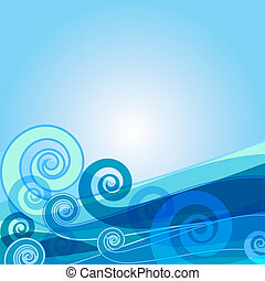 bakgrund, blå, abstrakt, (vector)