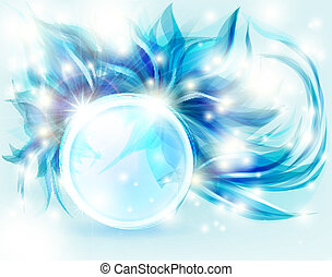 bakgrund, blå, abstrakt