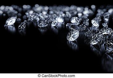bakgrund, diamanter