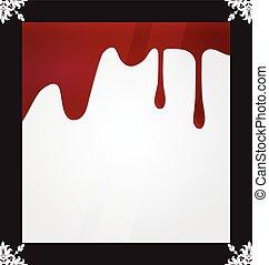 bakgrund., droppande, vektor, blod, illustration.