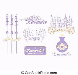 bakgrund, emballering, aromatherapy, lavendel, design, ...