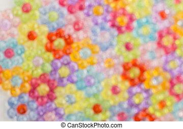 bakgrund, färgad, pärlhalsband, suddig avbild