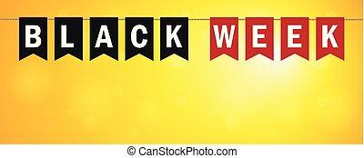 bakgrund, försäljning, svart, solig, vecka, flaggan