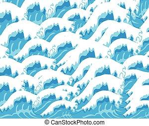 bakgrund, från, vågor