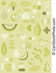 bakgrund, hälsa, illustration