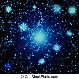 bakgrund, in, den, bilda, av, a, starry, sky., vector.