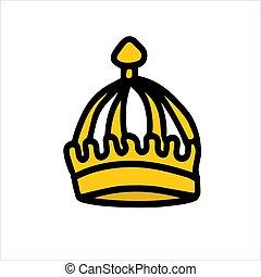 bakgrund., isolera, vit, elizabeth., krona, drottning
