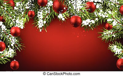 bakgrund., jul, röd