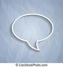 bakgrund, lätt, symbol, grå, papper, pratstund, bubbla