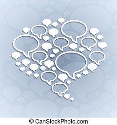 bakgrund, lätt, symbol, grå, pratstund, bubbla