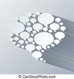 bakgrund, lätt, symbol, grå, pratstund, vit, bubbla