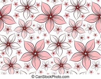 bakgrund, med, flowers.