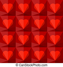 bakgrund, med, kristall, hjärtan