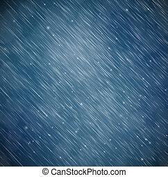 bakgrund, med, regna