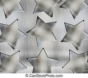 bakgrund, med, stål, stjärnor