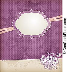 bakgrund, med, viol blommar
