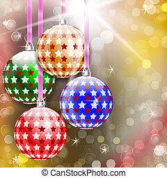 bakgrund, munter, år, färsk, jul, lycklig