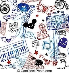 bakgrund., musik, seamless