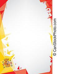 bakgrund, origami, av, spanien