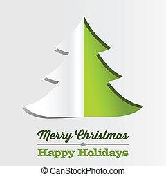 bakgrund, papper, julgran