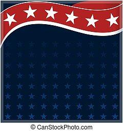 bakgrund, ram, amerikan flagga