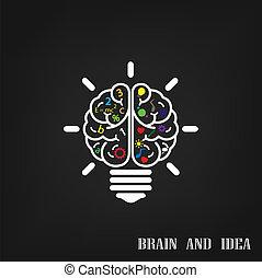 bakgrund, skapande, hjärna, design, idé, begrepp