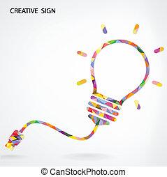 bakgrund, skapande, lök, lätt, idé, begrepp
