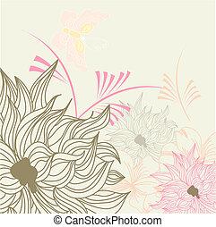 bakgrund, sommar, blommig