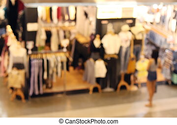 bakgrund, suddig, av, inköp, bekläda lagret, mode, butik, insida, köpcenter, bekläda lagret, mode, fläck, insida, galleria