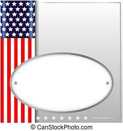 bakgrund, symbolism, amerikan, ram
