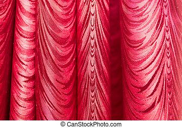 bakgrund., tyg, struktur, röd