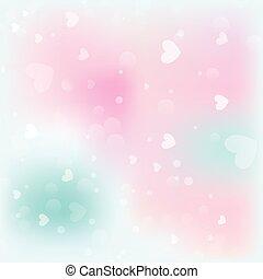 bakgrund., valentinbrev, bokeh, valentinkort, bakgrund, dag, abstrakt, hjärtan