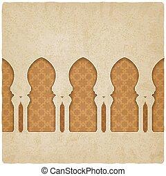 bakgrund, valv mönstra, arabiska