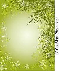 bakgrund, vektor, jul