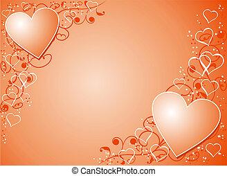 bakgrund, vektor, valentinbrev