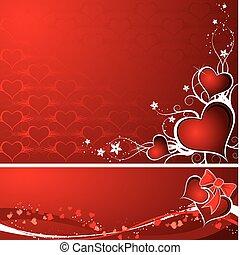 bakgrund, vektor, valentinkort