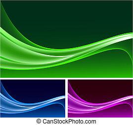 bakgrunder, abstrakt, vektor, sätta