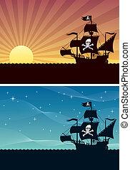 bakgrunder, sjörövare
