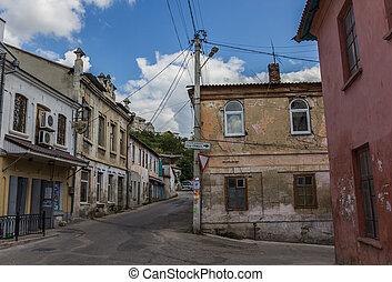 bakhchisaray, 通り, 古い, 中心