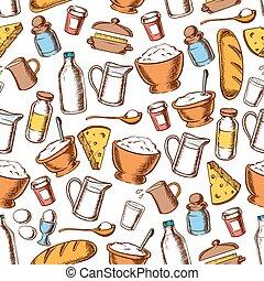 Baking and cooking ingredients seamless pattern