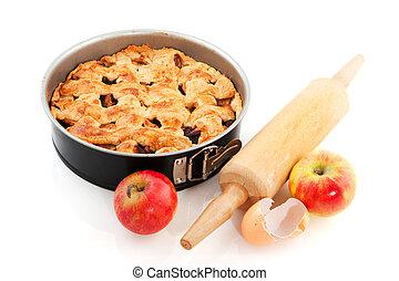 Baking apple pie