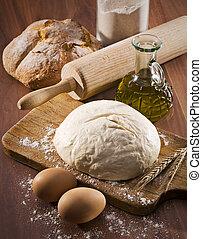 Baking bread - Baking fresh bread background close up shoot