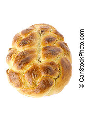 Baking bun with sultana