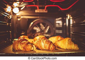 Baking Buttery Croissants in the Electric Oven.
